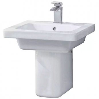 Duchy Ivy Basin with Semi-Pedestal, 650mm Wide, 1 Tap Hole
