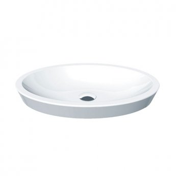 Duchy Ivy Oval Counter-Top Basin, 580mm Wide, 0 Tap Hole