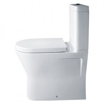 Duchy Ivy Comfort Height Flush-Fit Close Coupled Toilet, Push Button Cistern, Soft Close Seat