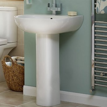 Duchy Lily Basin and Full Pedestal 550mm Wide 1 Tap Hole