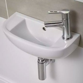 Duchy Lily Slimline Cloakroom Basin 450mm Wide 1 RH Tap Hole