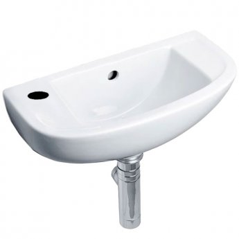 Duchy Lily Slimline Cloakroom Basin 450mm Wide 1 LH Tap Hole