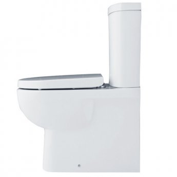 Duchy Lily Flush-to-Wall Close Coupled Toilet with Push Button Cistern - Soft Close Seat