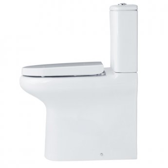 Duchy Lily BTW Rimless Comfort Height Close Coupled Toilet with Cistern - Soft Close Seat
