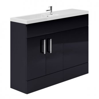 Duchy Nevada Combination Unit with Basin 1200mm Wide - Indigo Gloss