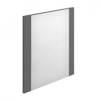 Duchy Nevada Square Bathroom Mirror, 600mm Wide, Grey