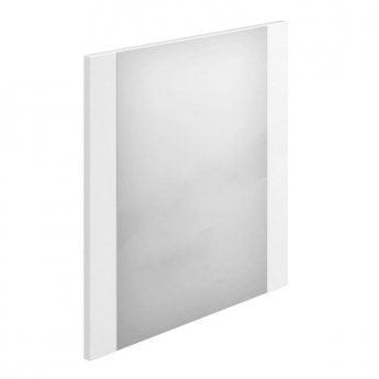Duchy Nevada Square Bathroom Mirror, 600mm Wide, White