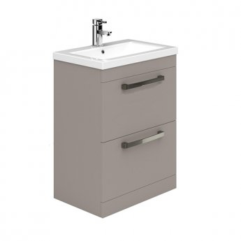 Duchy Nevada 2-Drawer Floor Standing Vanity Unit with Basin 600mm Wide Cashmere 1 Tap Hole