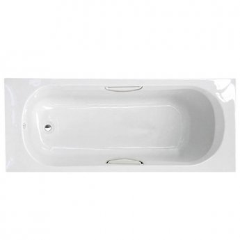 Duchy Ocean Single Ended Rectangular Bath with Handgrips and Legs, 1500mm x 700mm, 2 Tap Hole