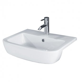 Duchy Orchid Semi-Recessed Basin 520mm Wide 1 Tap Hole