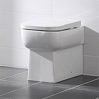 Duchy Orchid Back to Wall Toilet WC 560mm Projection - Soft Close Seat