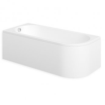 Duchy Pimlico LH Single Ended Rectangular Bath with Panels 1700mm x 750mm - 0 Tap Hole