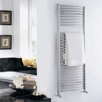 Duchy Standard Curved Towel Rail 1700mm H X 600mm W - Chrome