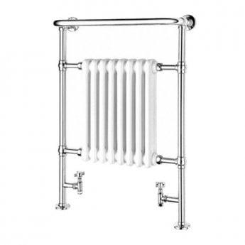 Duchy Taurus Radiator Heated Towel Rail 965mm H x 673mm W White/Chrome