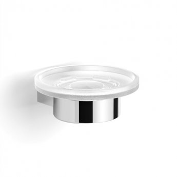 Duchy Urban Round Soap Dish, Wall Mounted, Chrome