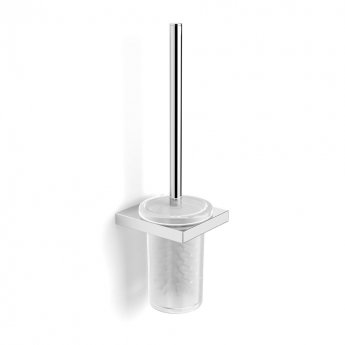 Duchy Urban Square Toilet Brush and Holder, Wall Mounted, Chrome