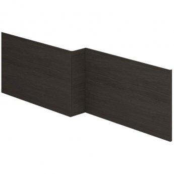 Duchy Vermont L-Shaped MDF Bath Front Panel 540mm H x 1700mm W - Dark Grey