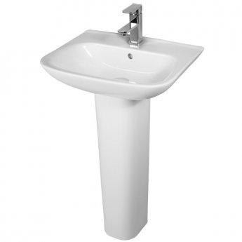 Duchy Violet Basin & Full Pedestal 450mm Wide 1 Tap Hole