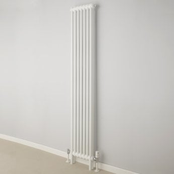 EcoRad Classic 2-Column Vertical Radiator 1800mm H x 339mm W - White
