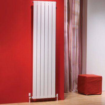 EcoRad Flat Tube Single Vertical Radiator 1820mm High x 616mm Wide 8 Sections White