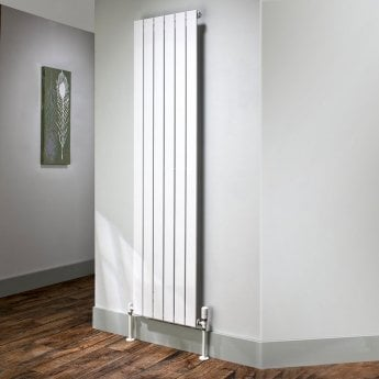 EcoRad Flat Tube Single Vertical Radiator 2020mm High x 464mm Wide 6 Sections White