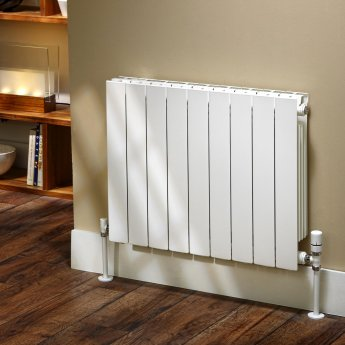 EcoRad Flat Top Aluminium Radiator 590mm High x 1280mm Wide 16 Sections RAL