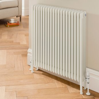 EcoRad Legacy 4 Column Radiator 602mm High x 249mm Wide 5 Sections - White