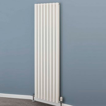 EcoRad Style Double Vertical Radiator, 1820mm H x 480mm W, White
