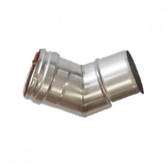 Firebird 45 Degree Plume Flue Bend (125mm Diameter)