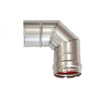 Firebird Plume 90 Degree Flue Pipe Elbow - 150mm Diameter
