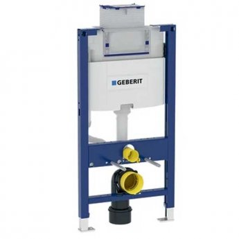 Geberit Duofix 980mm Wall Hung WC Toilet Frame With 120mm Omega Cistern, Blue