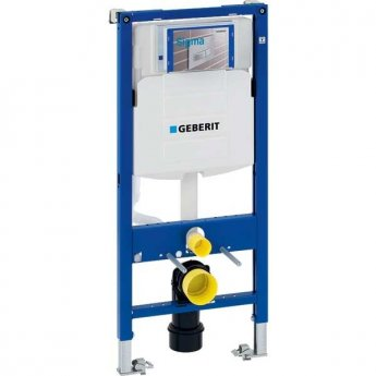 Geberit Duofix UP3201 WC Toilet Frame 1120mm With 120mm Sigma Cistern, Pre-Wall, Blue