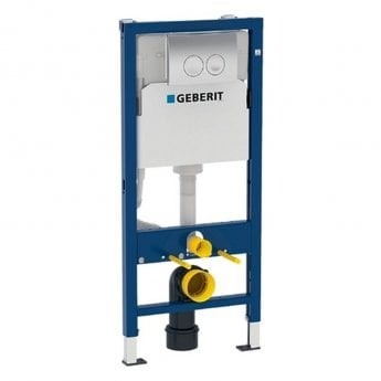 Geberit Duofix 1120mm Wall Hung WC Frame with Delta Cistern and Delta21 Flush Plate
