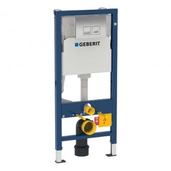 Geberit Duofix 1120mm Wall Hung WC Frame with Delta Cistern and Delta50 Flush Plate