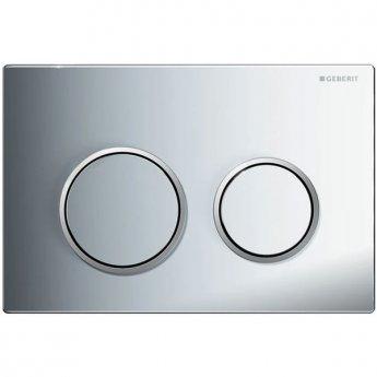 Geberit Kappa21 Dual Flush Plate - Gloss Chrome Plated/Matt Chrome Plated