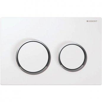 Geberit Kappa21 Dual Flush Plate - White/Gloss Chrome Plated