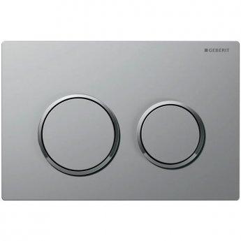 Geberit Kappa21 Dual Flush Plate - Matt Chrome Plated/Gloss Chrome Plated