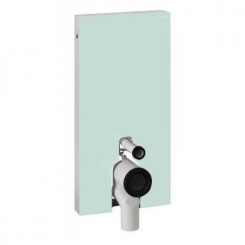 Geberit Monolith Back to Wall Cistern Frame for Floor Standing WC with Fittings - Mint Glass