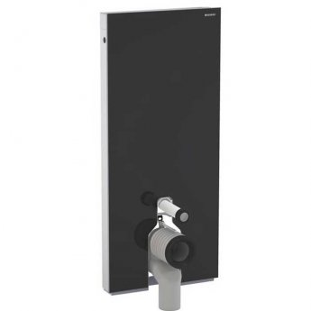 Geberit Monolith Module for Floor Standing WC 1140mm - Black Glass