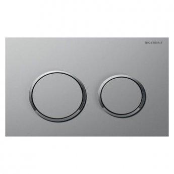 Geberit Omega20 Dual Flush Plate, Matte Chrome