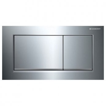 Geberit Omega30 Dual Flush Plate - Gloss/Matt Chrome