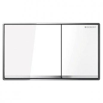 Geberit Omega60 Dual Flush Plate, White Glass