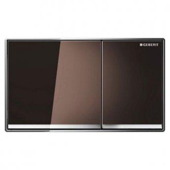 Geberit Omega60 Dual Flush Plate, Umber Glass