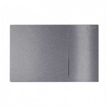 Geberit Omega 70 Dual Flush Plate for Furniture - Brushed Stainless Steel