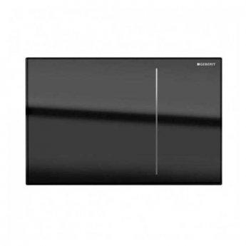 Geberit Omega 70 Dual Flush Plate for Furniture - Black Glass