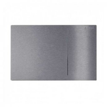 Geberit Omega 70 Dual Flush Plate for Solid Wall - Brushed Stainless Steel