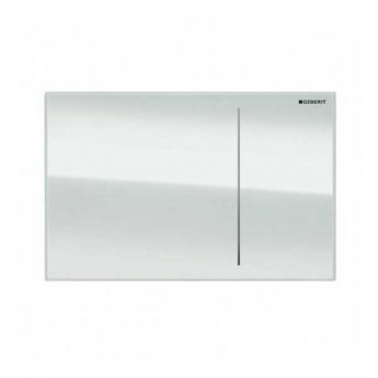 Geberit Omega 70 Dual Flush Plate for Solid Wall - White Glass