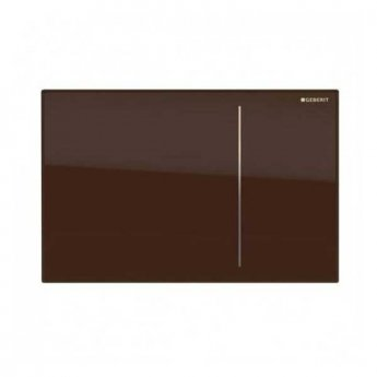 Geberit Omega 70 Dual Flush Plate for Solid Wall - Umber Glass
