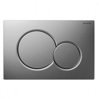 Geberit Sigma01 Dual Flush Plate, Matt Chrome