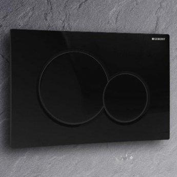 Geberit Sigma01 Dual Flush Plate, Black